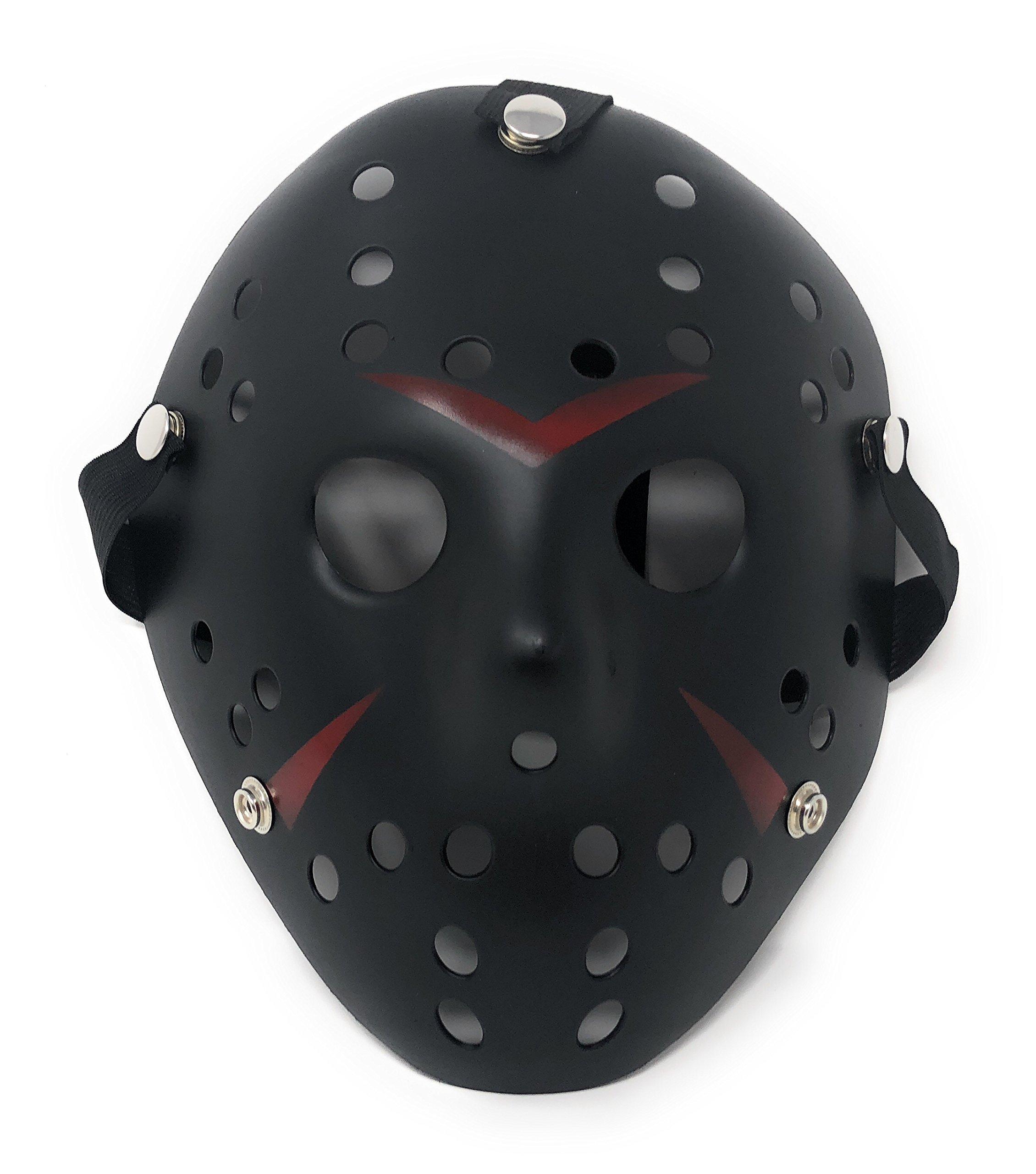 Ultra - Déguisement thème Horreur - Masques de hockey couleurs argent, or, blanc, bronze - Masque adulte de qualité PVC avec sangle velcro élastique product image