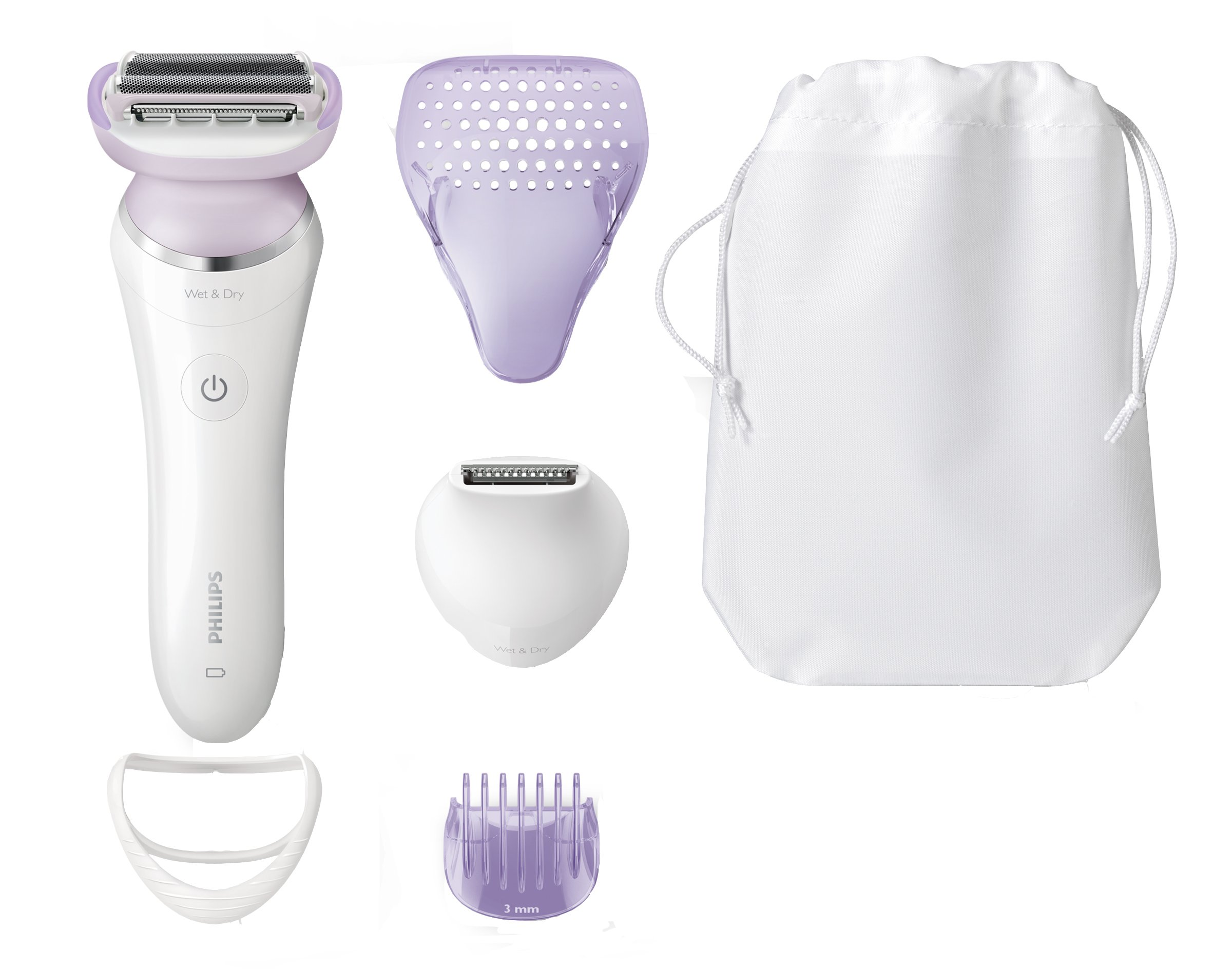 Philips SatinShave Prestige Women's Electric Shaver, Cordless Hair Removal with Trimmer (BRL170)