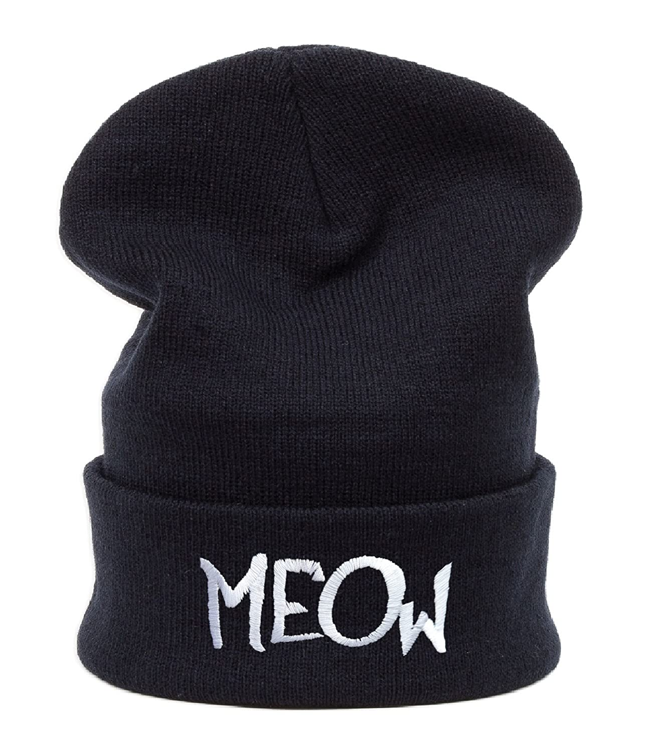 Beanie Mütze Damen Herren Bad Hair Day Easy Witch Trill Bastard Meow Swag Wasted DIE Fake Meow Commes des 1994 HAT HATS, Morefazltd (TM) (Meow)