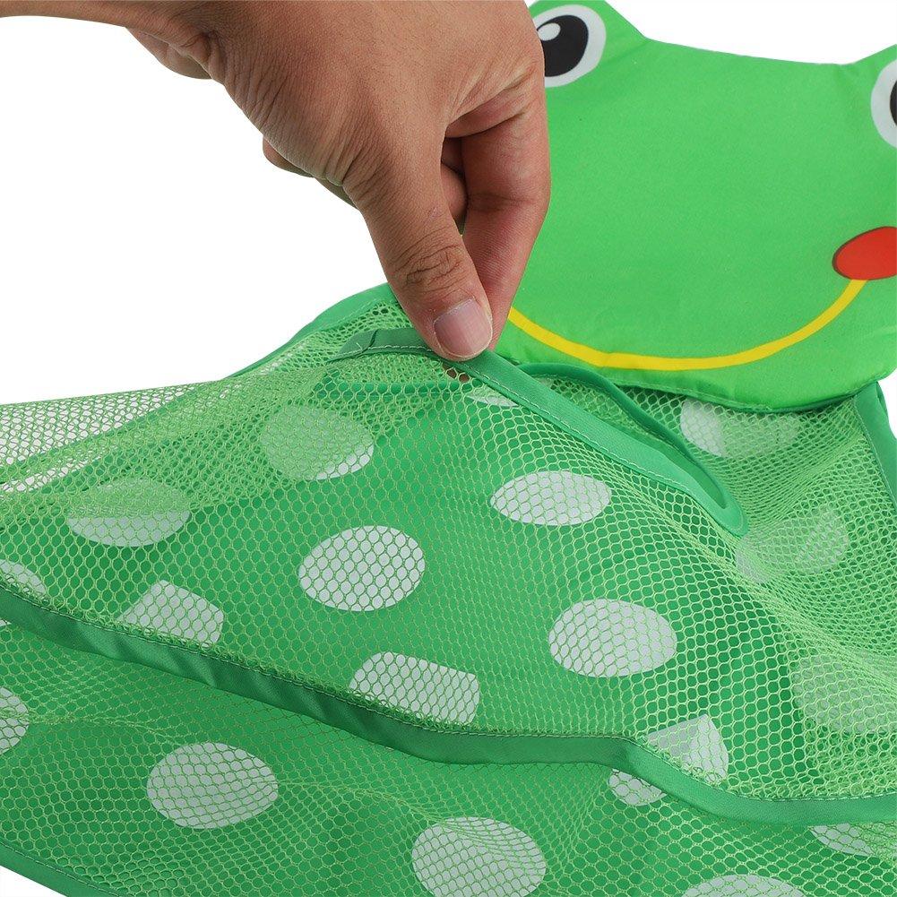 14.17x19.69 Bolsa De Malla De Almacenamiento En La Tina del Ba/ño con 2 Ventosas De Alta Resistencia Cesta De Ba/ño para Ni/ños Zerodis Organizador De Ducha para Beb/é Little Frog
