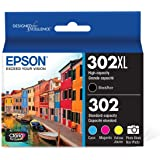 Epson T302XL-BCS Claria Premium Ink Cartridge Multi-pack - High-capacity Black and Standard-capacity Photo Black and Colour (
