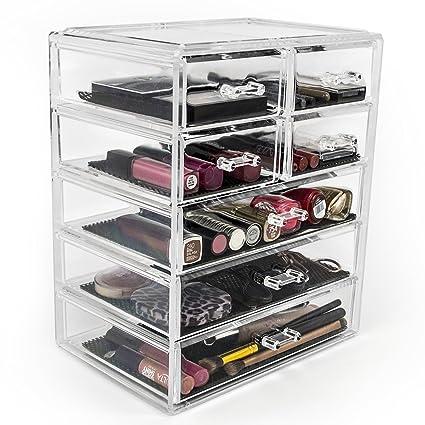 Sorbus Cosmetics Makeup And Jewelry Big Storage Case Display   Stylish  Vanity, Bathroom Case (