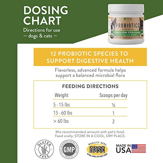 Amazon.com: Fera Probiotics para perros y gato Probiotics ...