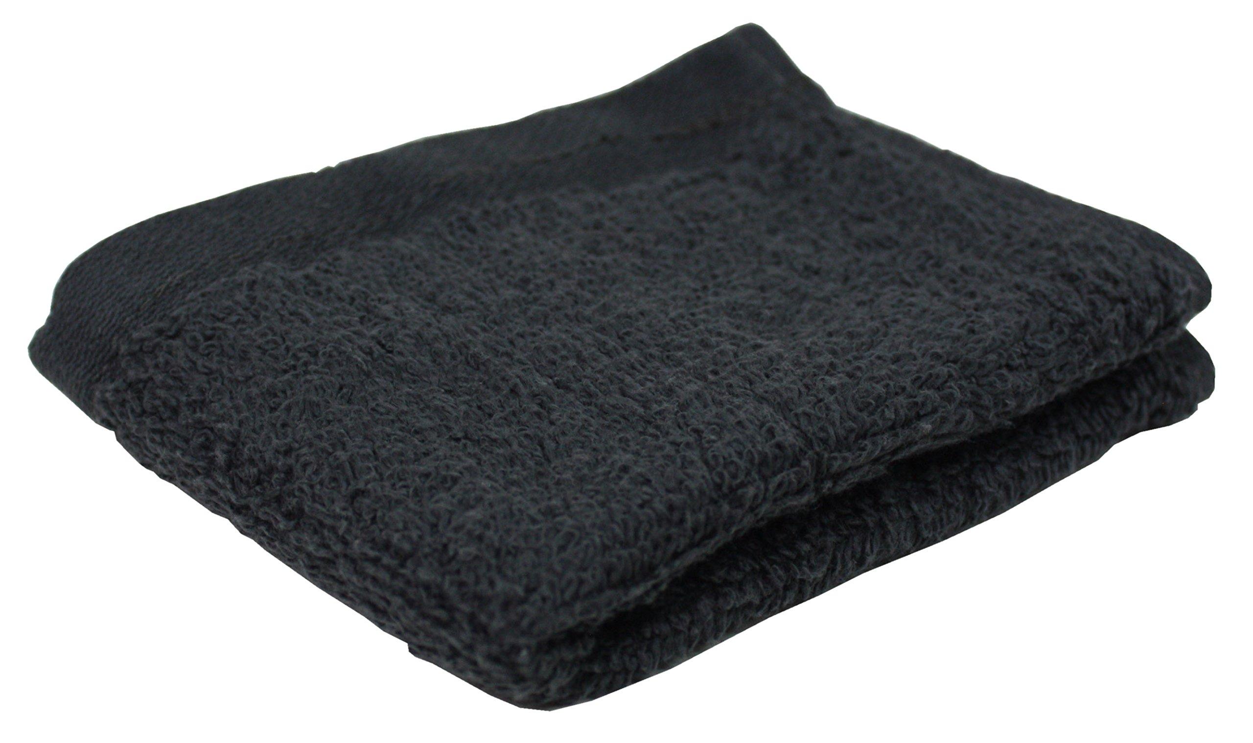 J & M Home Fashions Portofino Washcloth (144 Pack), Dark Gray