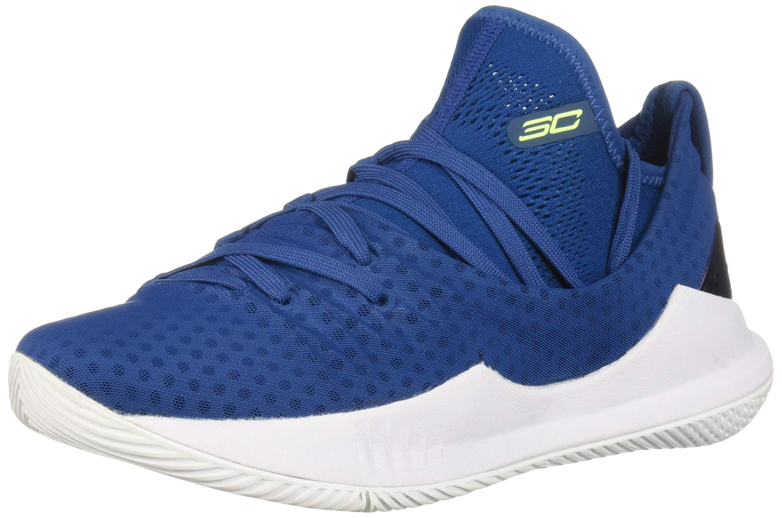 Under Armour Boys' Grade School Curry 5 Basketball Shoe Moroccan Blue (401)/White 4