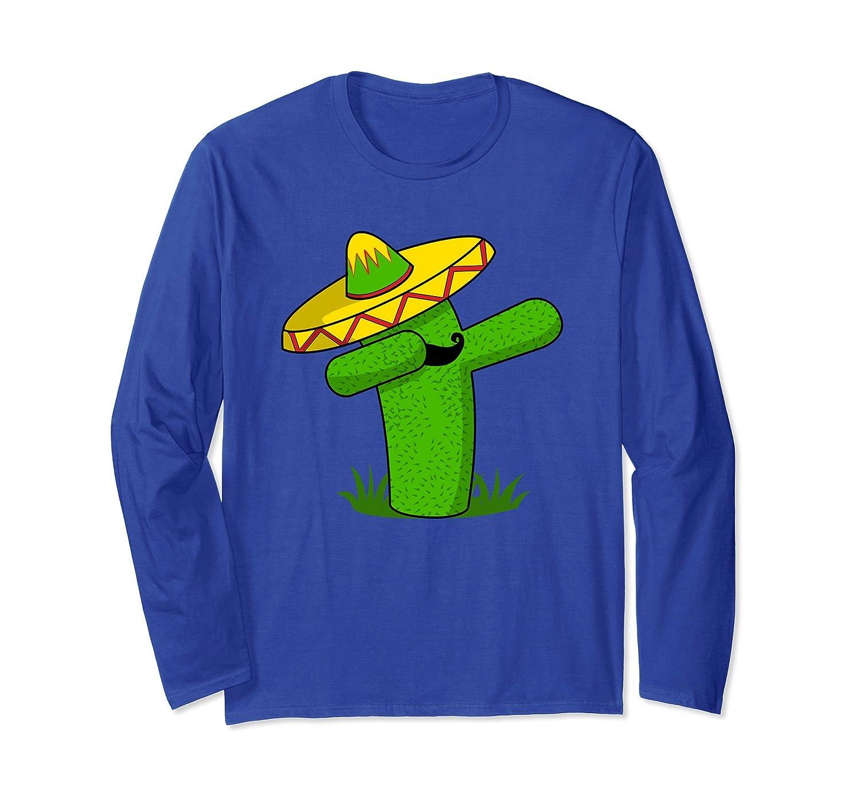 Dabbing Cactus Cinco de Mayo Mexican Fiesta Long Sleeve-alottee gift