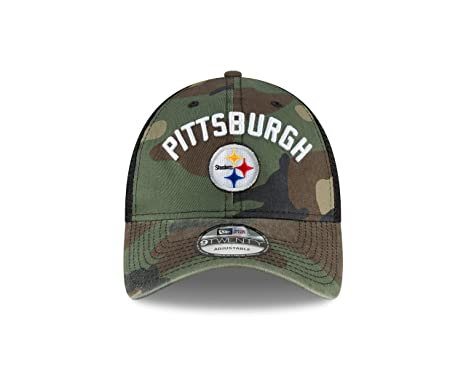 26d18542401b3 Amazon.com   Pittsburgh Steelers New Era Woodland Camo Rugged Stack ...