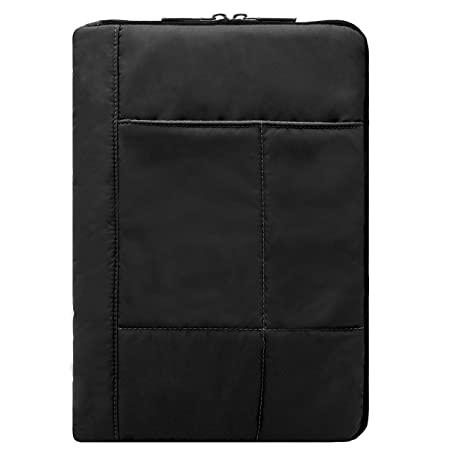 Quilted Sleeve Cover Case for Lenovo Yoga Book C930, Smart Tab P10, Tab M10 HD, Tab P10, Tab E10, Tab 3 Pro, Tab 10, Tablets up to 11.25 inch (Black)