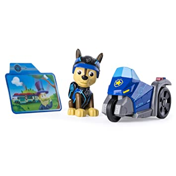 759ead6f88375 PAW PATROL – Mission Paw – Chase – Figurine + Mini Véhicule de la Pat