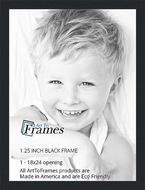 amazoncom arttoframes 18x24 inch black picture frame womfrbw72079 18x24 single frames