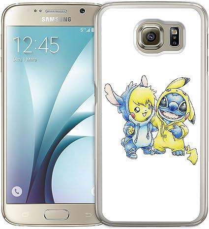 Coque Samsung Galaxy S6 : Stitch Pikachu: Amazon.fr: High-tech