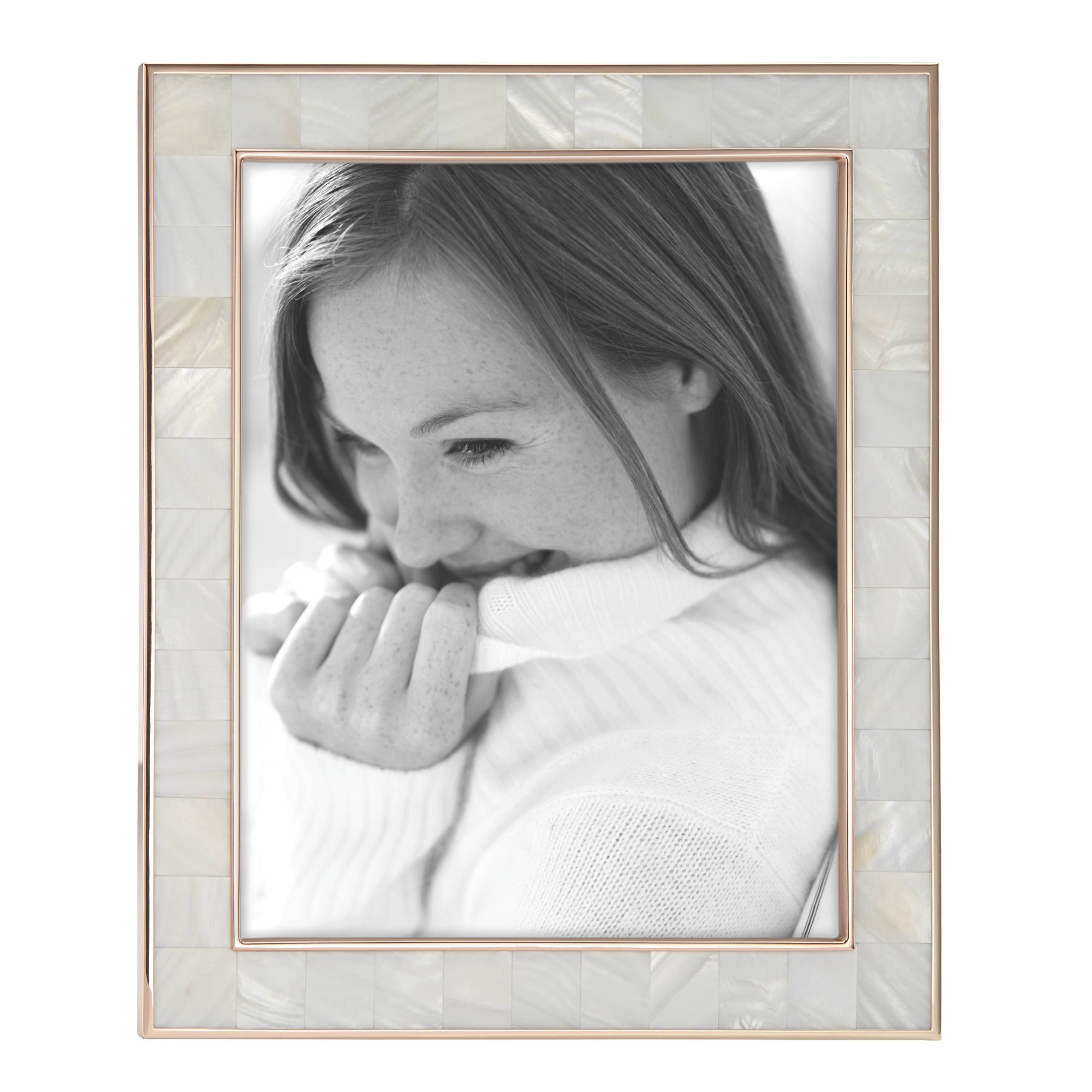 Reed & Barton 869710 Mother of Pearl Rose Gold 8x10 Frame