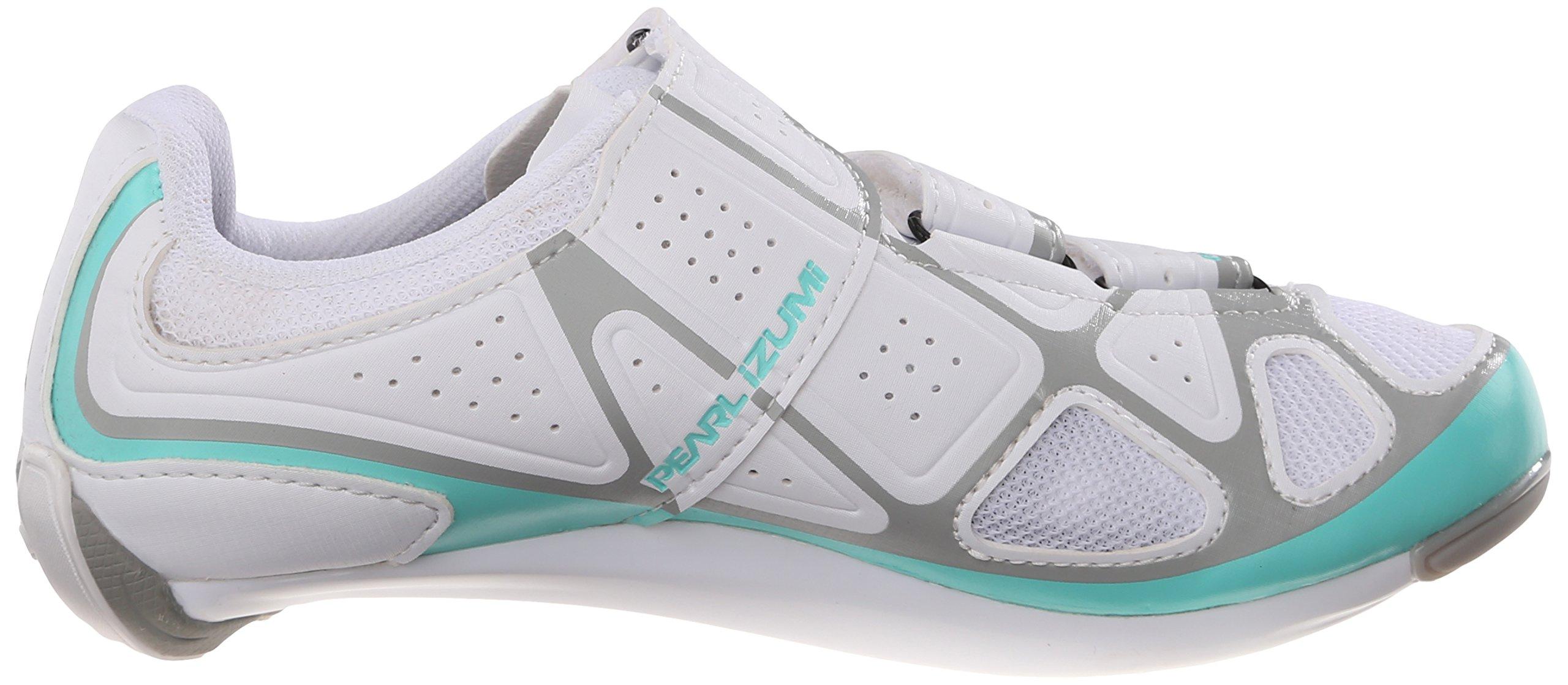 Pearl Izumi Women's W Select RD IV Cycling Shoe, White/Aqua Mint, 40 EU/8.3 B US by Pearl iZUMi (Image #7)