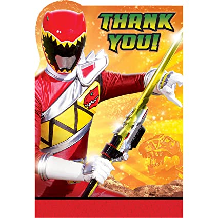 Amazon Amscan Power Rangers Dino Charge Birthday Party Postcard