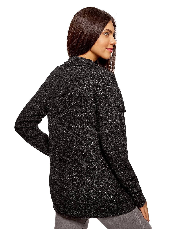 oodji Ultra Mujer Chaqueta de Punto con Espalda Decorativa