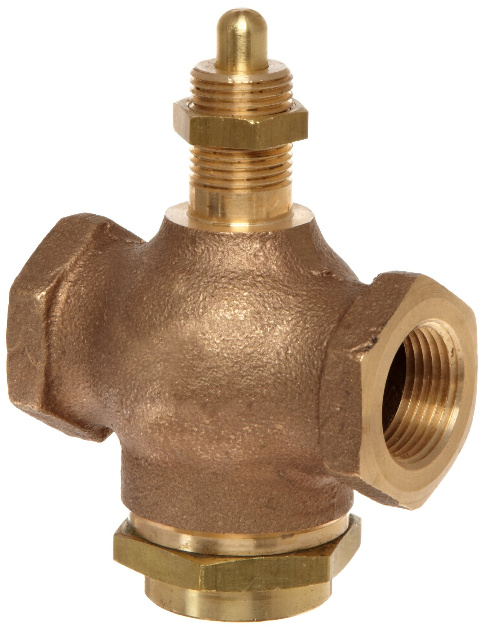 Kingston 305A Series Brass Quick Opening Flow Control Valve, No Handle, 3/4'' NPT Female