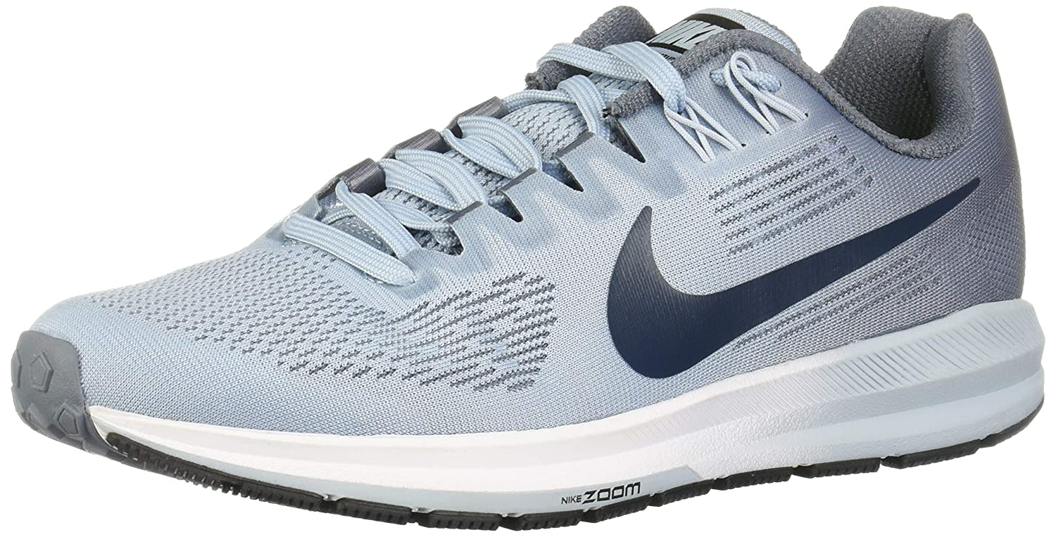 Nike Women's Air Zoom Structure 21 Armory BlueNavy Ankle High Mesh Running Shoe 6.5M