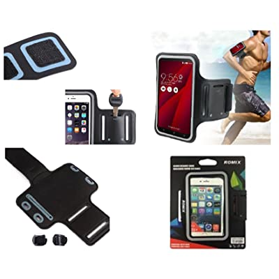 DFV mobile - Professional Cover Neoprene Waterproof Armband Wraparound Sport with Buckle for => SONY XPERIA XZ-PREMIUM > Black