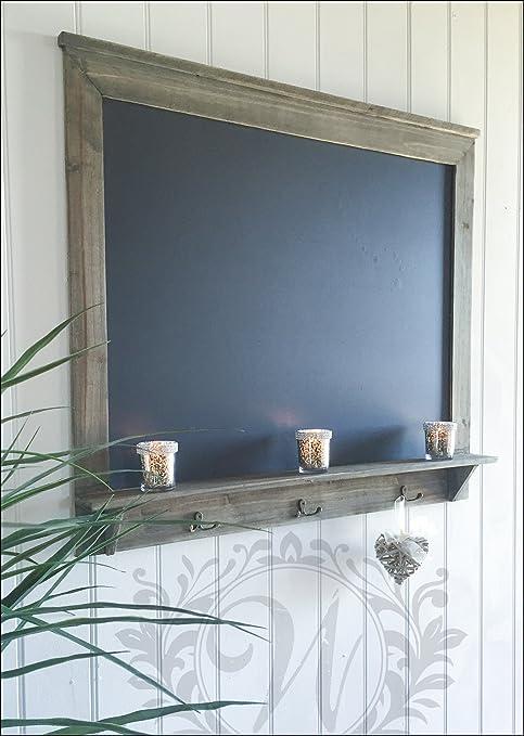 Crema Envejecido Con Caja De Tiza Pizarra-Cocina o pasillo tablón de anuncios