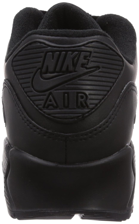 Air Max 90 Leather, Baskets mode homme, Noir (Black/Black 001), 41 EUNike