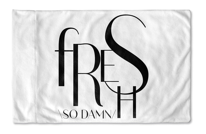 - TRADITIONS Collection White KAVKA Designs So Dam Fresh Pillow Case, SCRAVC3001PC42 Size: 40X20X1 -
