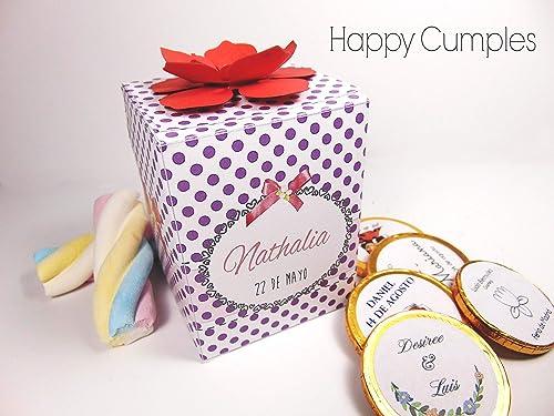 12 Cajas Con Chuches Personalizadas: Amazon.es: Handmade