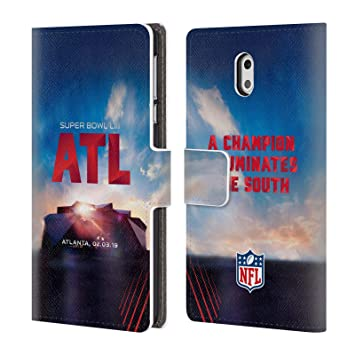 Officiel NFL Stade De Mercedes-Benz Atlanta 2019 Super Bowl LIII Étui Coque  De Livre f5099cbc6