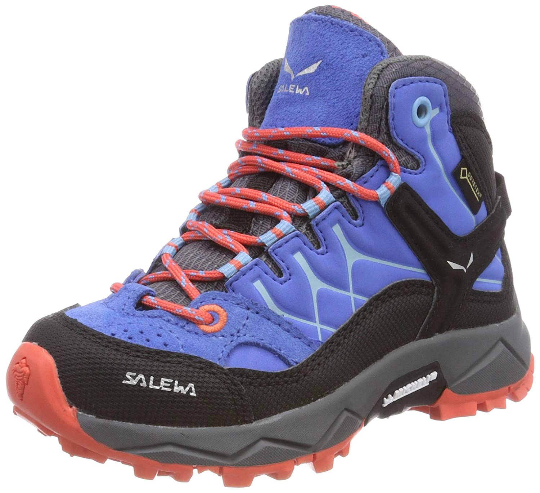 Bleu (Royal bleu   Hot Coral 3428) 27 EU Salewa Jr Alp Trainer Mid GTX, Chaussures de Randonnée Hautes Mixte Enfant