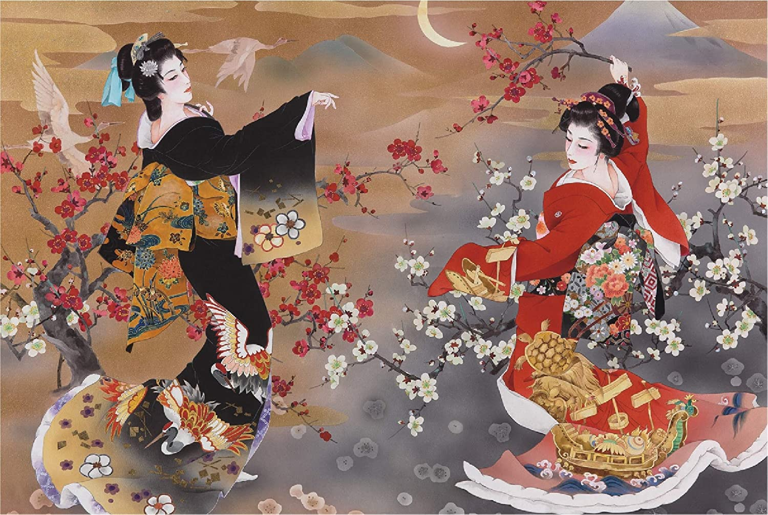 Funnybox Beauty Paintings by Haruyo Morita- Wooden Jigsaw Puzzles 1000 Piece Teens Family