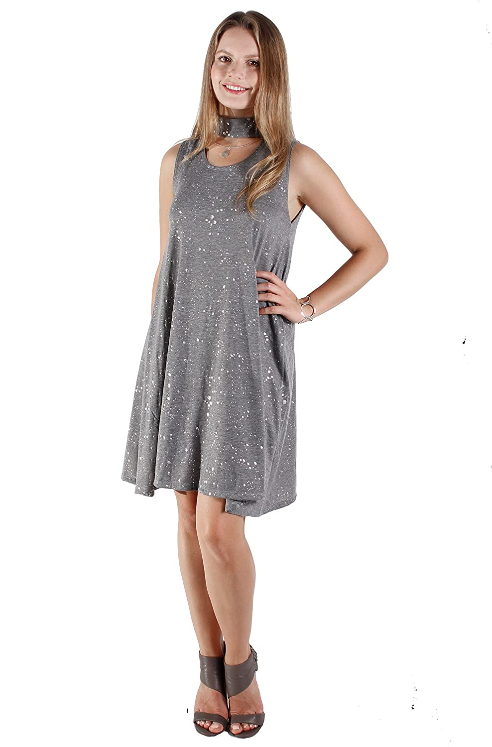 HaliCali DRESS レディース Sleeveless B075TWS2VZ Small|Gray Sleeveless レディース Gray Gray Sleeveless Small, AFRESHFEELING:bf418f1d --- sametyakan.com.tr