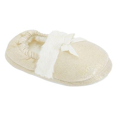 separation shoes 86394 463b4 Pantofole glitterate e con pelo sintetico - Bambina: Amazon ...