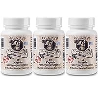 Athina Oregano-Öl 60 Softgels-Forte 500 mg Kapseln, 80% Carvacrol. (3er Set)