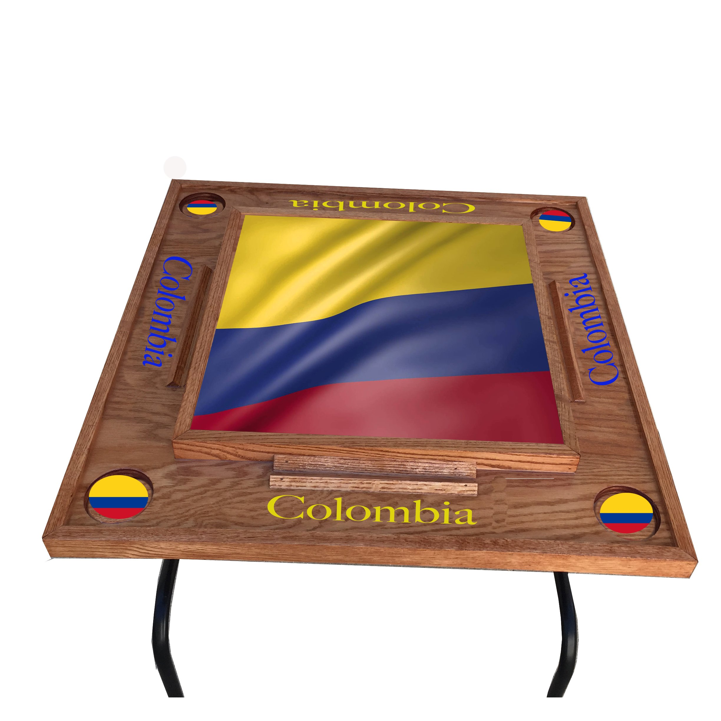 Colombia W Flg Domino Table (Crerry)