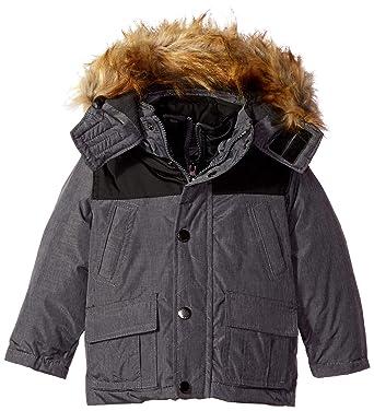 9f8ab68ff Amazon.com  English Laundry Boys  Vestee Parka Jacket  Clothing