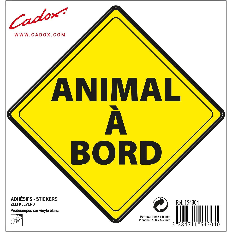 Cadox Adhesif Animal /à Bord Losange Jaune