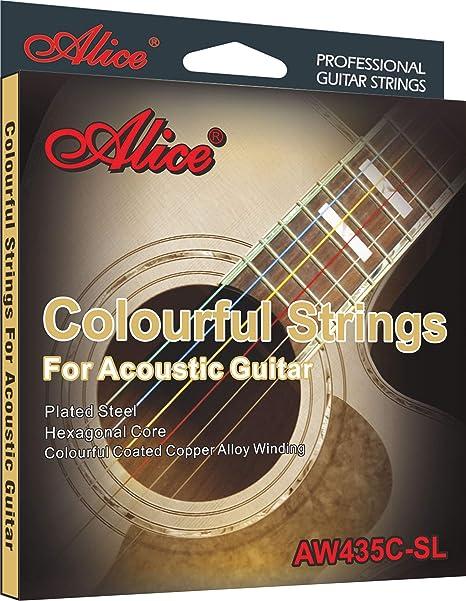 Alice AW435C-SL - Cuerdas para guitarra acústica, 6 cuerdas, súper ...