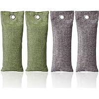 CETECK 4-delige set 75 g bamboe actieve kool luchtverfrisser keukenkast filter luchtreiniger zweet sportschoenen…