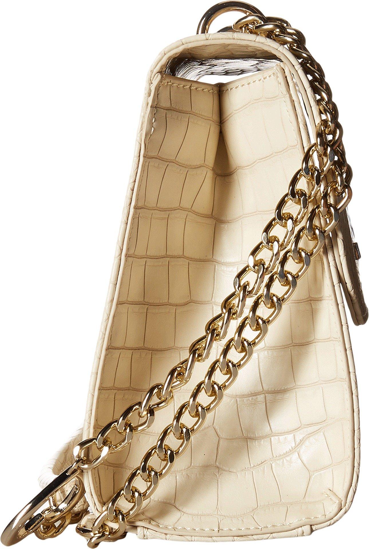 LOVE Moschino Women's Croco Pu Shoulder Bag White Handbag by Love Moschino (Image #3)