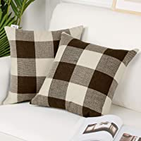EXQ Home Throw Pillow Cover Coffee