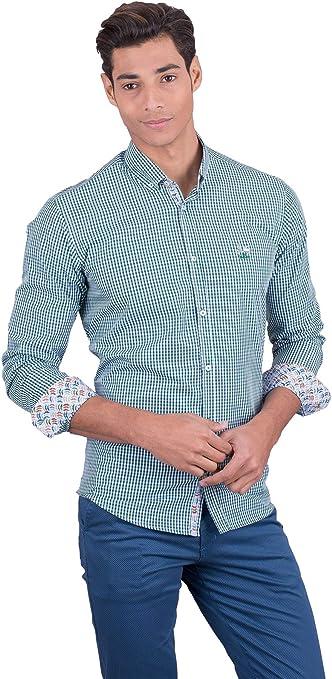 La Vespita Camisa con Estampado de Vichy y Logo Vespa: Amazon.es: Ropa y accesorios