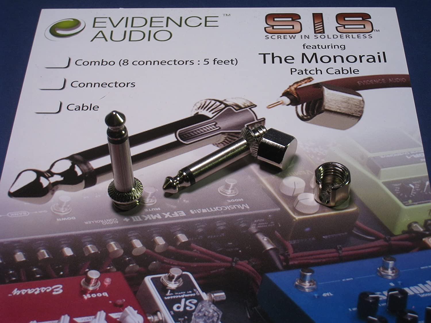 Geistnotes Evidence Audio The Monorail Burgundy Cable Pedal Board Wiring Kit Sis Solderless Pedalboard 10 Plugs Feet Of Musical