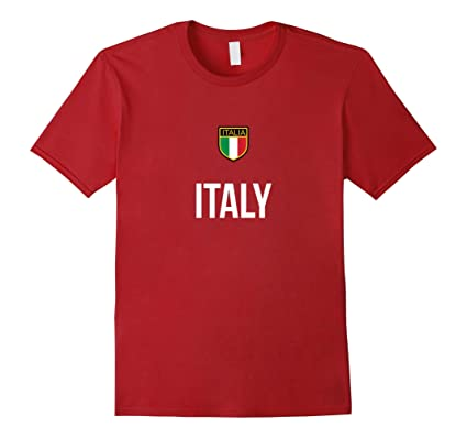 71c22d1356c Men s Italy Vintage Soccer T-Shirt Italian Football Calcio Tee Small  Cranberry