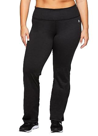 746a62349c RBX Active Women's Plus Size Brush Back Bootcut Legging Black at Amazon Women's  Clothing store: