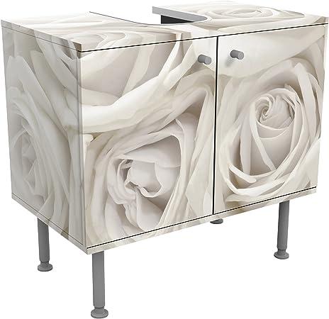 Meuble Sous Vasque Design White Roses 60x55x35cm Petit 60 Cm De