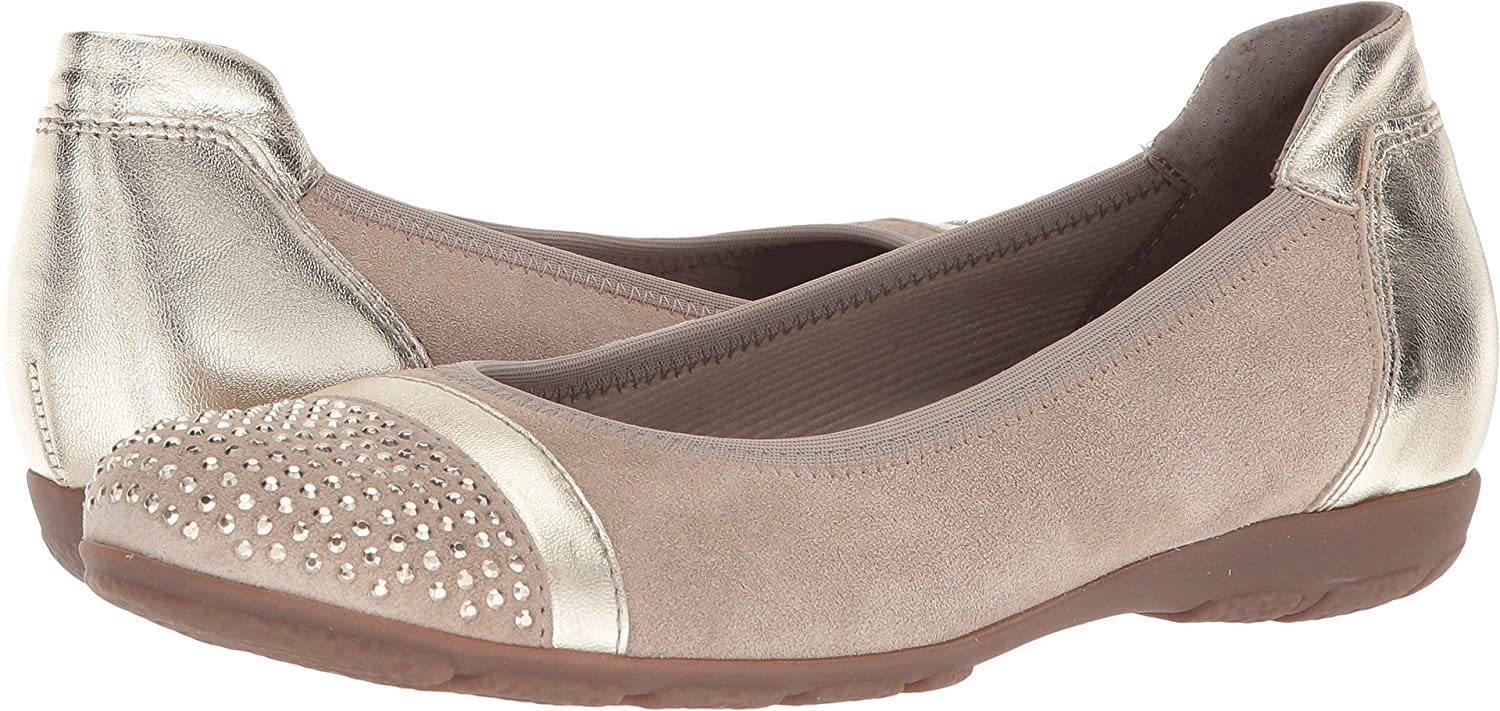 Gabor Womens 84.167 B075MP8R5K 6 B UK|Taupe Velour/Luxor Metallic