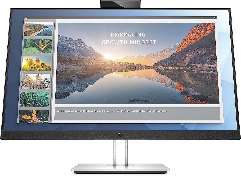 HP EliteDisplay E24d - Estación de conexión y cámara Web integrada, Pantalla IPS antirreflejo FHD de 24 Pulgadas, Altura Ajustable e inclinación, pivoting 90°, HDMI, USB-C, DisplayPort, Plata: Amazon.es: Informática