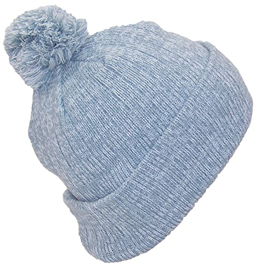 Best Winter Hats Adult Variegated Striped Cuff Cap W Pom (One Size)(Fits Large  Heads) - Gray White at Amazon Men s Clothing store  cbeea7b412b