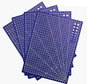 WTSHOP 4 PCS Self Healing Rotary Cutting Mat,Self-Healing Double-Sided Rotary Mat,Cutting Mat for Home Hobby Table(A4)