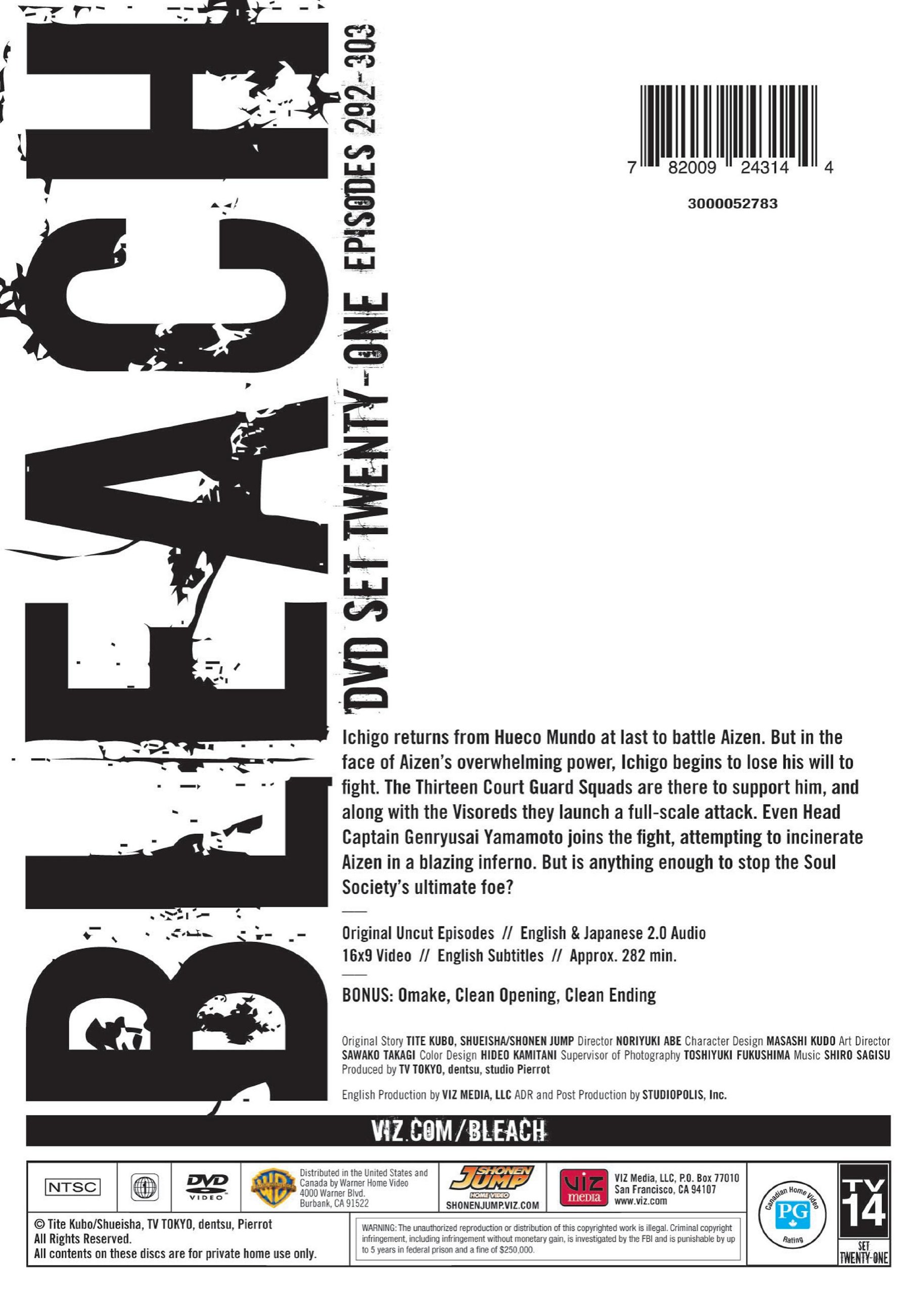 Bleach Uncut Set 21 by Viz Media, LLC.