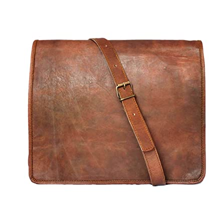 843a28768f5a Image Unavailable. Image not available for. Color  15 quot  Men s Genuine  Leather Messenger bag Laptop bag Satchel College crossbody ...